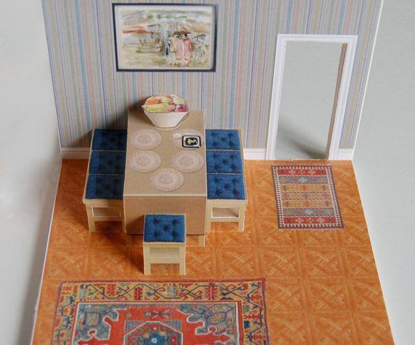 Dining Room Pop Up Card Dyi