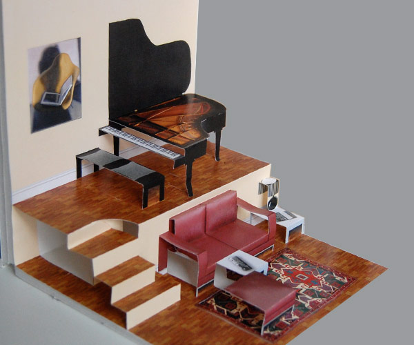 Diy Living Room With Grand Piano For The Pop Up Paper House