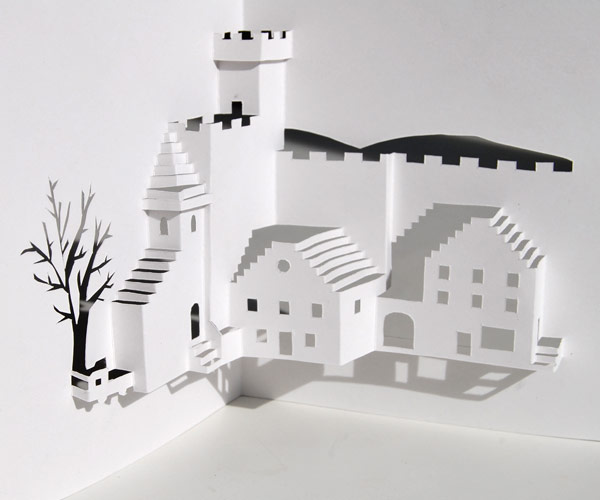Village square pop up card you can make yourself for 3d pop up card templates free