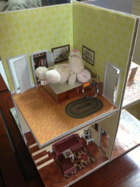 Bedroom action shot
