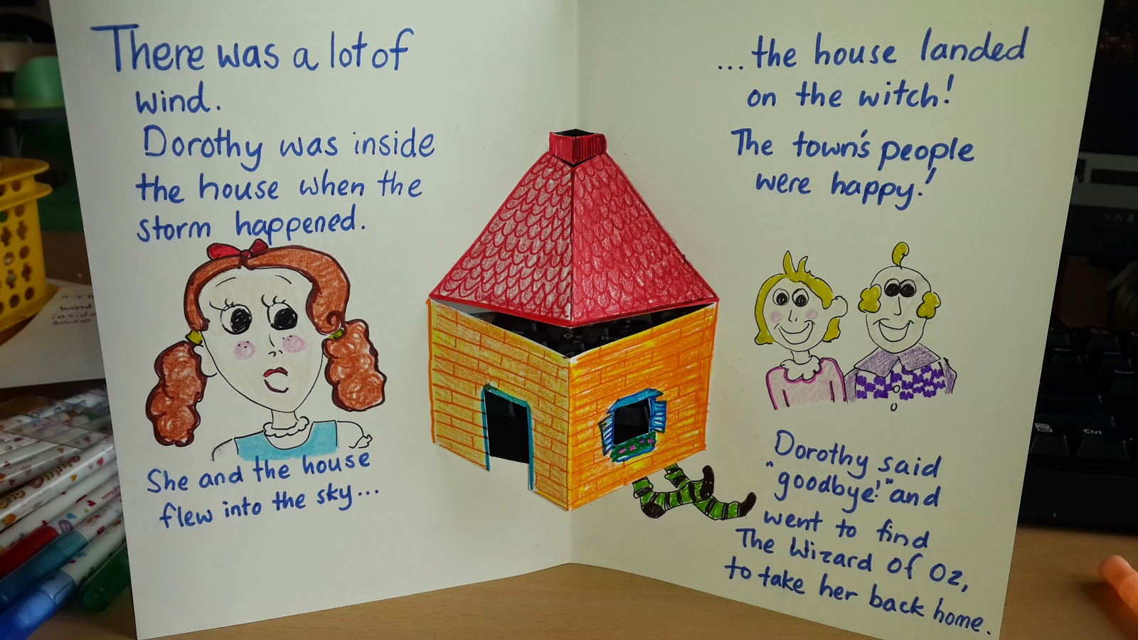 Wizard of Oz house by the teacher