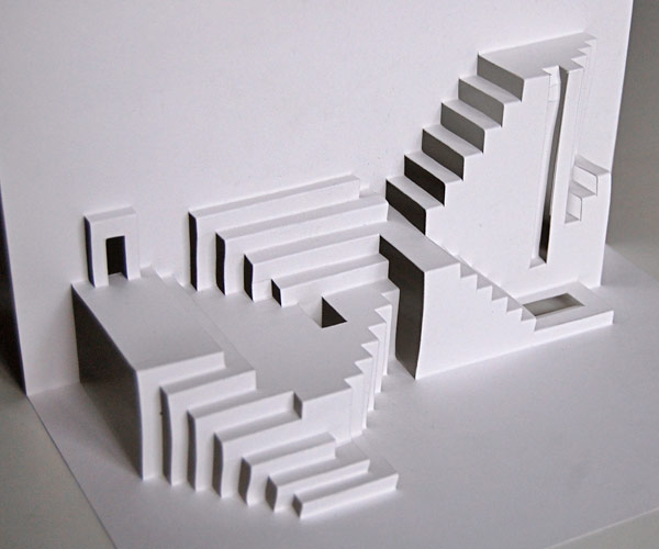 Stairmaze for Pop up card craft