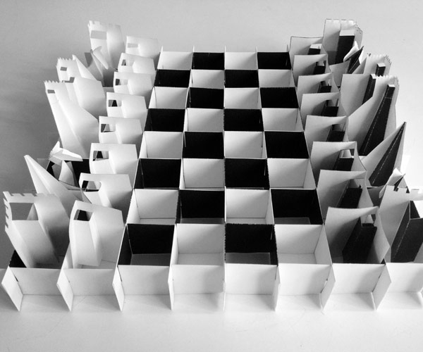 Complete Chess Set. For The Board To Be Nice And Straight As It Is Here,  And For It To Fold Properly, The Notches Must Be Cut Out.