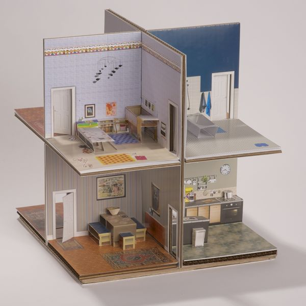 pop-up paper house kit