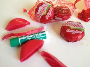 holiday projects babybel lip balm