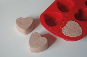 valentine projects chocolate bath bomb