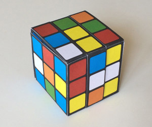 paper-puzzle-box-rubik's-cube-scrambled