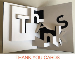 Thank you pop-up cards