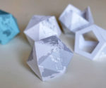 Icosahedron Printable Globe