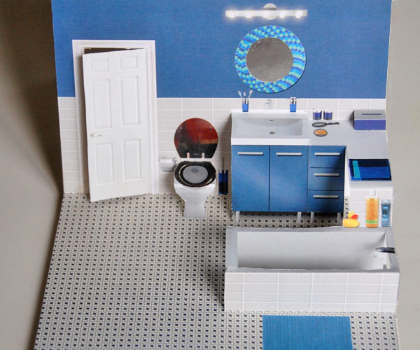 Bathroom for Pop-up Paper House
