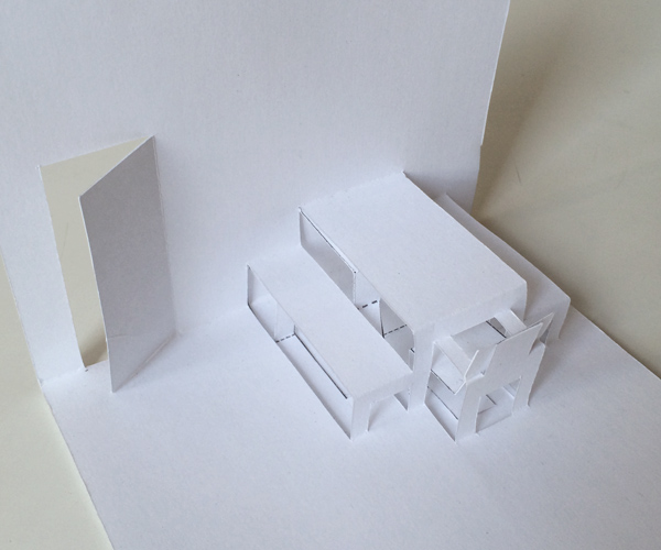 blank pop-up house dining