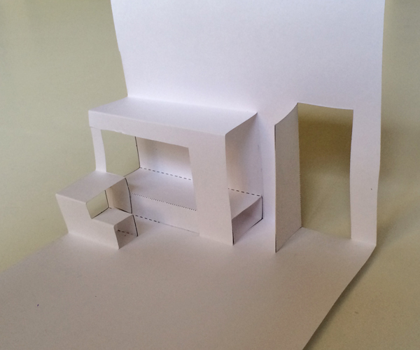 blank pop-up house kids room