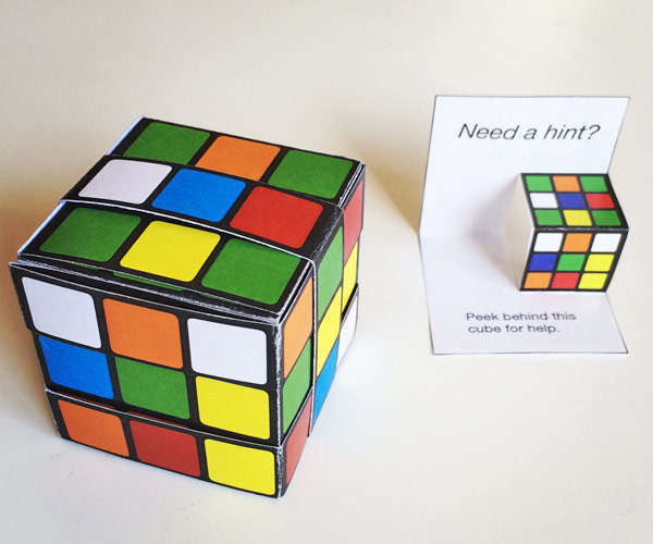 Paper Rubik S Cube With Label
