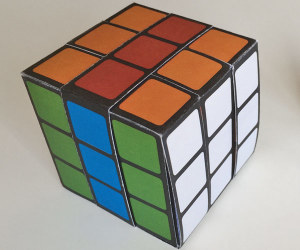 Paper-Rubiks-cube-with-ring