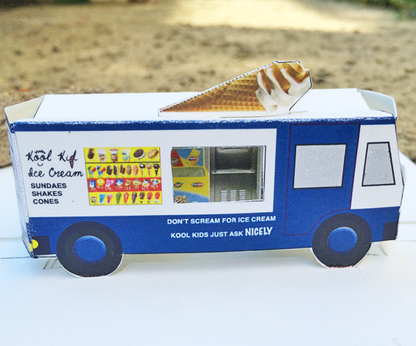 Ice Cream Truck Printable Pop Up Card Or Paper Toy