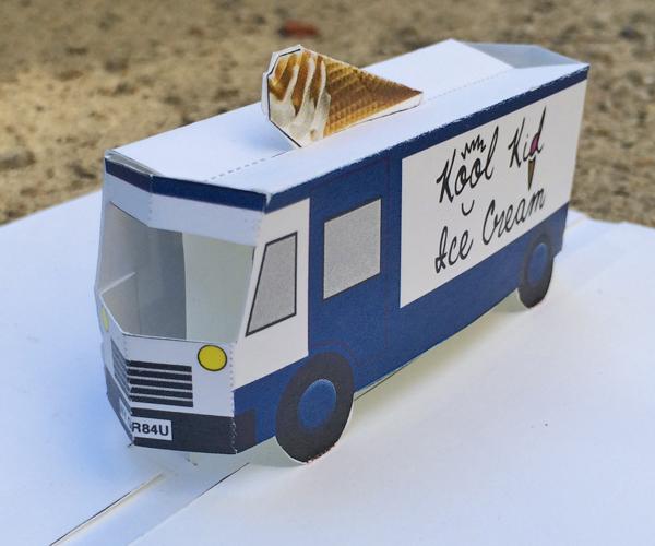 ice cream truck printable pop