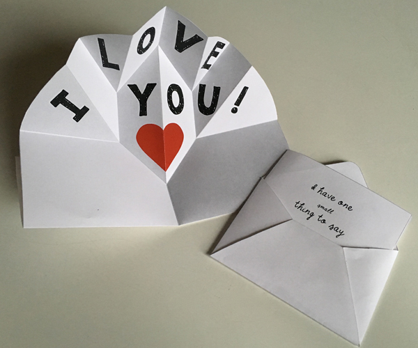 Expanding Pop Up Make A Thank You Card Or Love Note Which