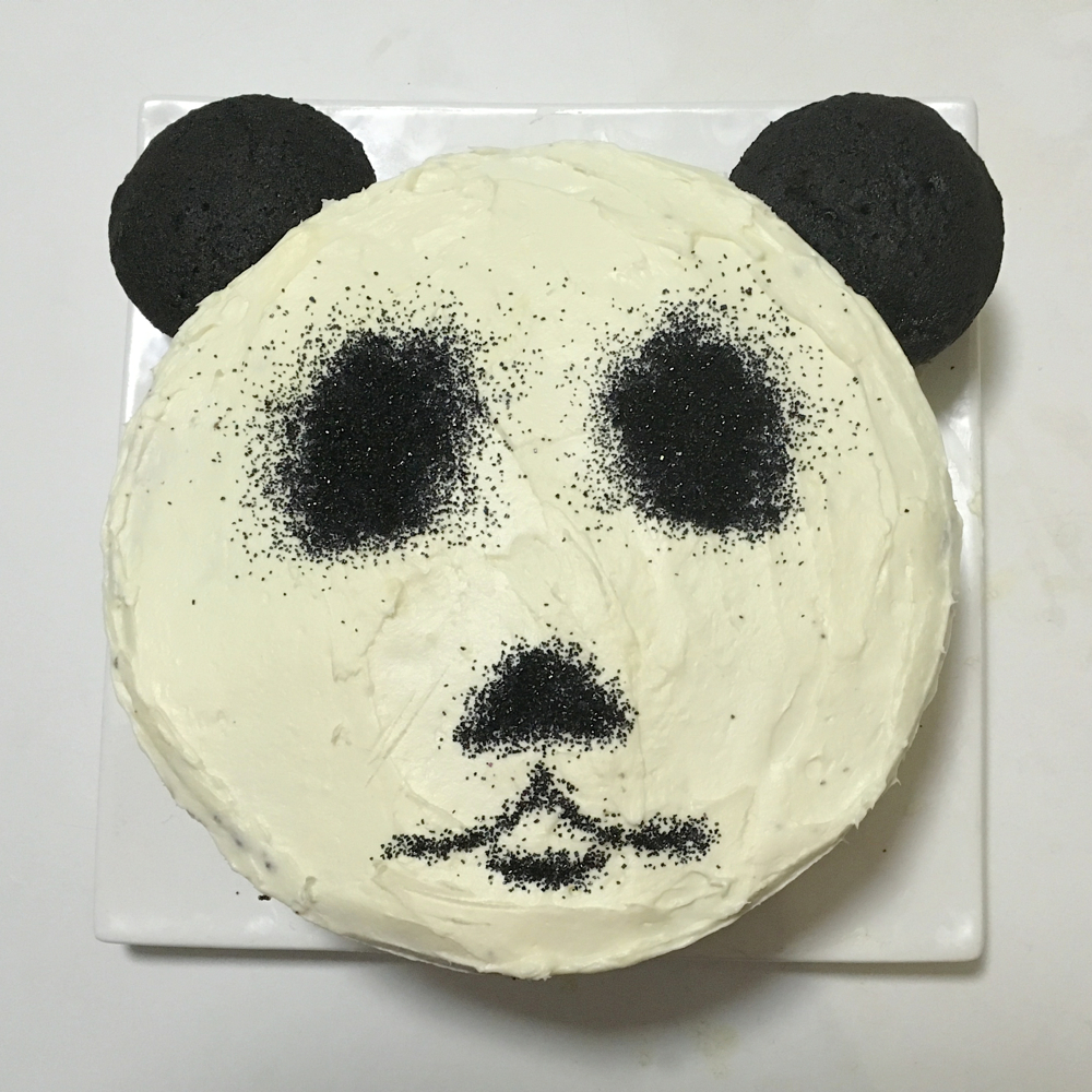 Pin panda sheet cake ideas and designs cake on pinterest for Panda bear cake template