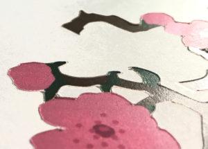 Cut cherry blossom detail