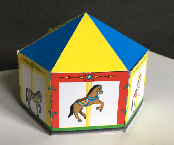 Carousel pop-up merry-go-round
