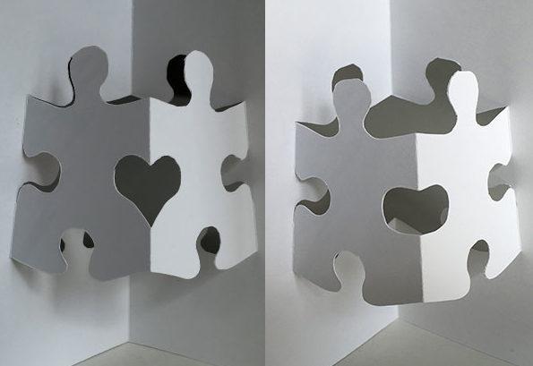 Pop-up puzzle piece