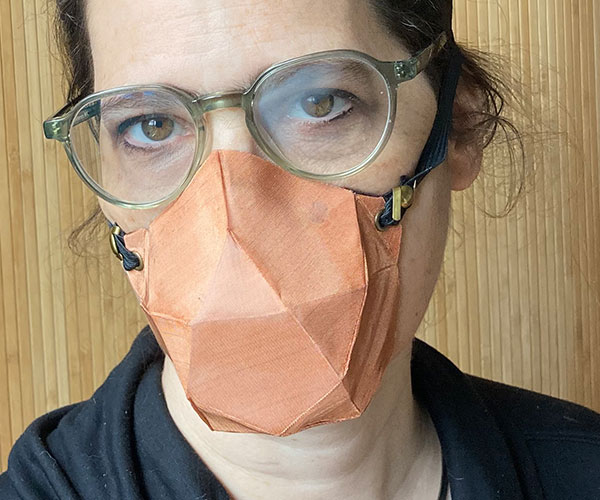 copper mesh no-sew face mask