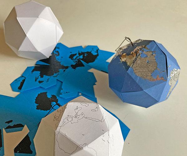 icosidodecahedron globe